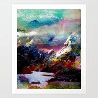 landscape Art Prints featuring Untitled 20100816g (Landscape) by tchmo