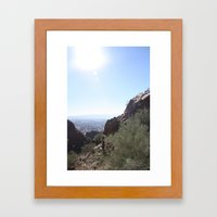 Between the Boulders Framed Art Print