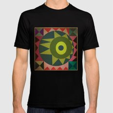 geometric Black SMALL Mens Fitted Tee