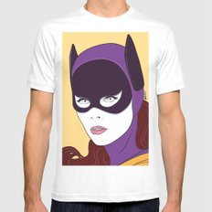 60s Batgirl White Mens Fitted Tee SMALL