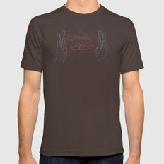 Agent's Cradle Mens Fitted Tee Brown SMALL