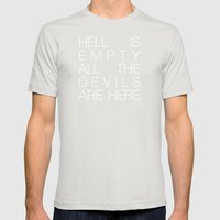 Hell Is Empty Mens Fitted Tee Silver SMALL