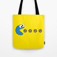 Cookie monster Pacman Tote Bag