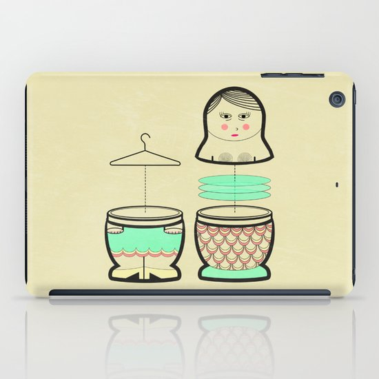 The mermaid who was tired of her tail ... iPad Case