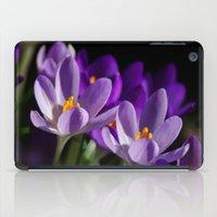 Purple Crocus iPad Case