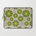 Playful Flower Pattern Laptop Sleeve