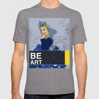 BE  ART Mens Fitted Tee Tri-Grey SMALL