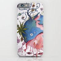 iPhone Cases featuring The strange planet by sophie gerl