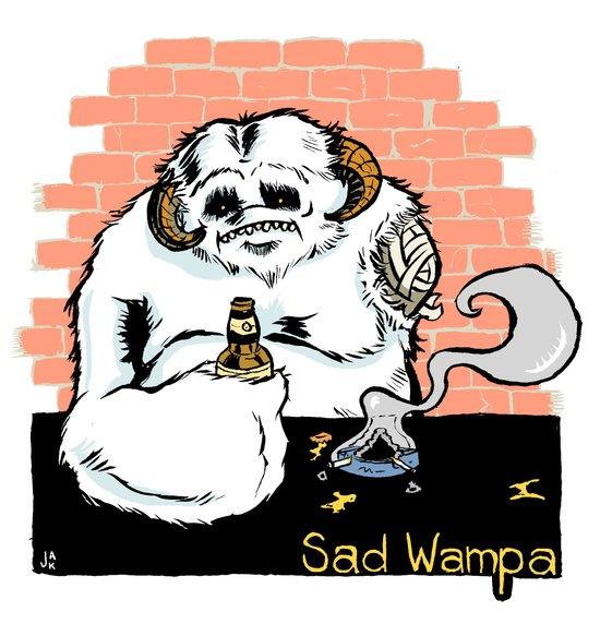 Sad Wampa Art Print