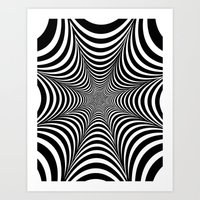 Optical illusion Art Print