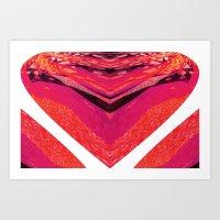 Pink Warp II Art Print