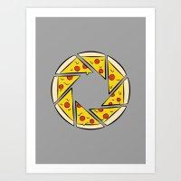 Pizzaperture Art Print