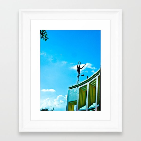 THE WIND AND THE BALANCE Framed Art Print