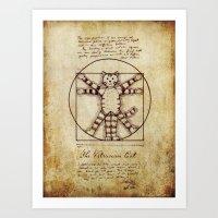 Vitruvian Cat Art Print