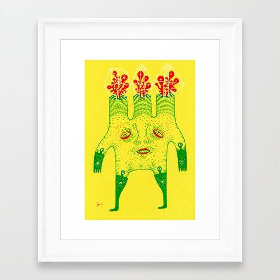 y e l l o w  Framed Art Print