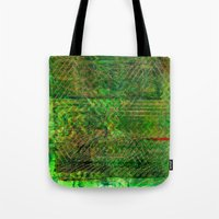 Gold caged green Tote Bag