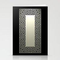 Greek Key black Stationery Cards