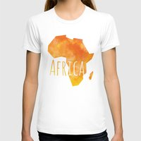 africa T-shirts featuring Africa by Stephanie Wittenburg