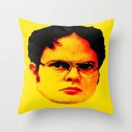 Throw Pillow featuring Dwight Schrute