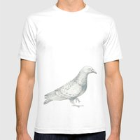 Pigeon Mens Fitted Tee White SMALL