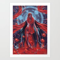 Blood witch Art Print