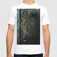 Crusted Mens Fitted Tee White SMALL