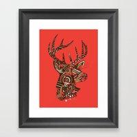 ROAD KILL ~ RED Framed Art Print