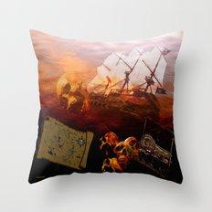 VINTAGE-Pirates Throw Pillow