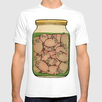 Pickled Pig Revisited Mens Fitted Tee White SMALL