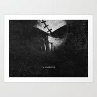Monster.Scratch. Art Print
