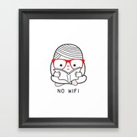 No wifi Framed Art Print