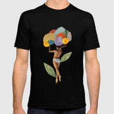 i walk out in the flowers and feel better Mens Fitted Tee Black SMALL