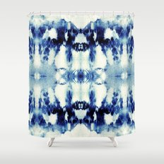 Tie Dye Blues Shower Curtain
