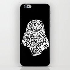 Darth Vader [White on Black] iPhone & iPod Skin