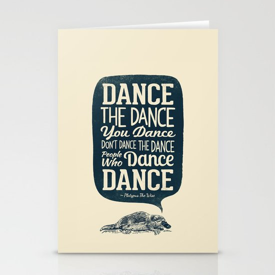 Platypus The Wise Stationery Card