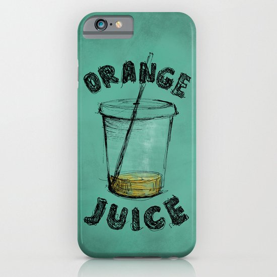 Orange Juice iPhone & iPod Case