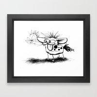Hyena and the Spider whisker whisk  Framed Art Print