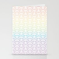 Rainbow Emeralds Pattern Stationery Cards