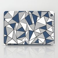 Abstraction Lines with Navy Blocks iPad Case