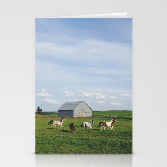 Farm Horses Stationery Card
