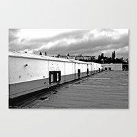 Canvas Print featuring Vacant Nalley building by Vorona Photography