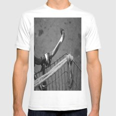 The Bicycle SMALL White Mens Fitted Tee