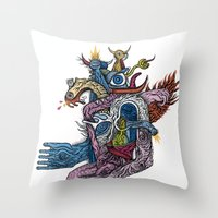 New god makina - Print available!! Throw Pillow