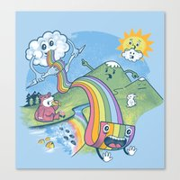 Rainbow Pasta Canvas Print