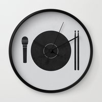 Hungry To Rock Wall Clock