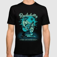 Rockabilly Mens Fitted Tee Black SMALL