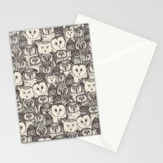 just owls natural Stationery Cards