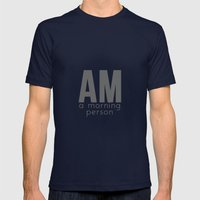A Morning Person Mens Fitted Tee Navy SMALL