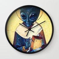 St. Alien Wall Clock