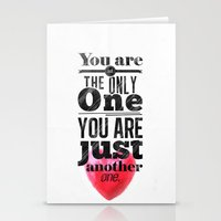 You are not the only One. Stationery Cards